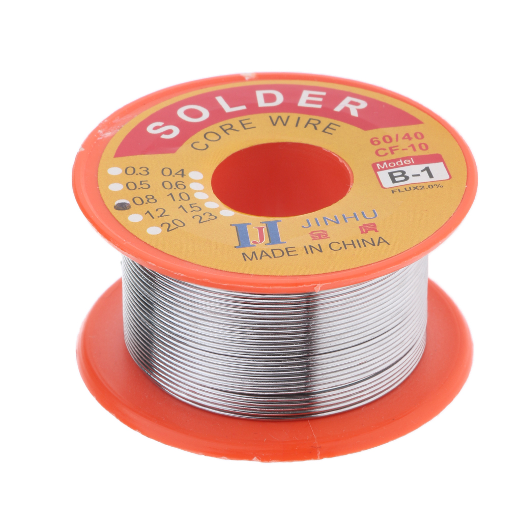 Tin Lead Solder Wire Rosin Core 2% Flux Iron Welding Tool 0.8mm Diameter For Electrical and Electronics DIY Soldering Wire Roll