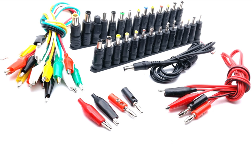 Universal AC DC Jack Charger Connector Plug for Laptop /Notebook AC DC Power Adapter with Cable 1 Set /38pcs