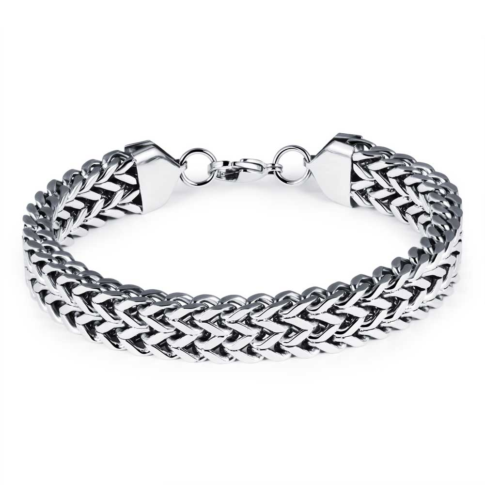 Fashion Men Bracelet Personality Fish Scale Titanium Steel Hand Chain Man Trendy Jewelry Accessories For Gifts KQS8