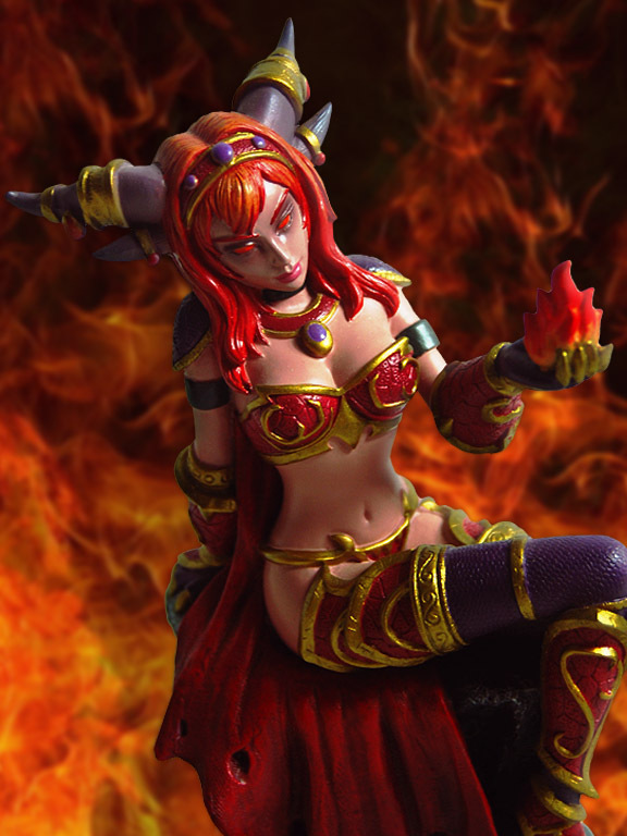 WOW Queen alexstrasza Red Dragon Anime models toys hobbies action ...