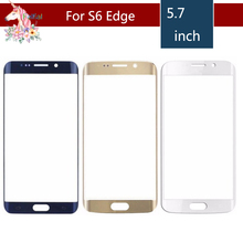 Original For Samsung Galaxy S6 Edge G925F G925A G95 and S6 Edge+ Edge Plus G928 G928F Front Outer Glass Lens Touch Screen Panel цена и фото