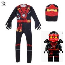 Kids Ninjago Costumes Boys Child Halloween Costumes for Kids Jumpsuits Christmas Fancy Party Dress Ninja Costume Kids Suits