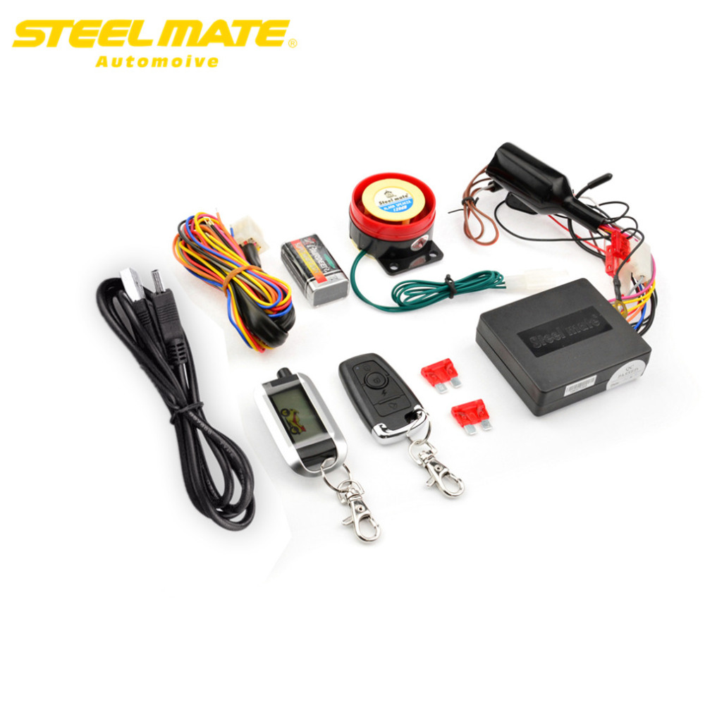 Steelmate  986XO Motorcycle tpms pressure alarmsystems Remote Control Engine Start Anti-theft Security  High-quality парктроник steelmate sensor 12b 09 red
