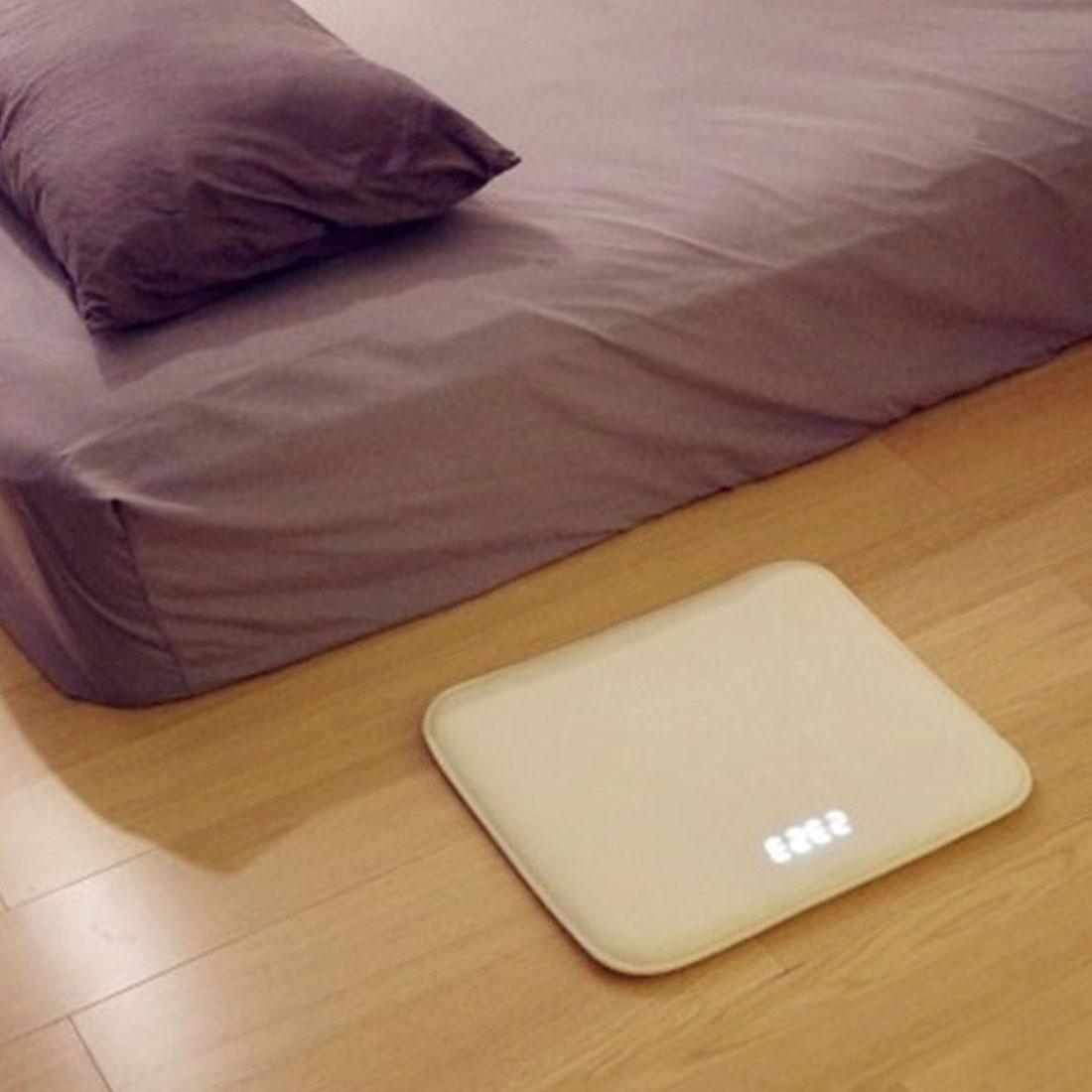 Réveil sensible à la pression tapis électronique horloge numérique chambre anti-dérapant résistant à l'usure tapis doux paresseux alarme cloche