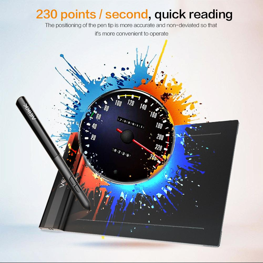 S640 6 X 4 Inch 5080Lpi Graphic Tablet Drawing Pad With Digital Pen Electronic Computer Keyboard Accessories