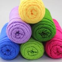 500g Wholesale Lots Soft Bamboo Crochet Cotton Knitting Baby Yarn Knitting Wool Thick Yarn For Knitting Threads Hand Knit
