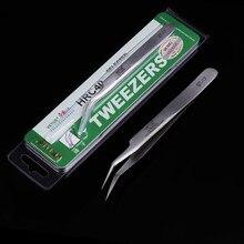 VETUS ST-17 – pincettes industrielles antistatiques à pointe incurvée, pincettes de précision en acier inoxydable, outils manuels de réparation de téléphones