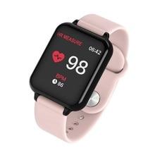JQAIQ Smart Wristband Waterproof Sports for Iphone Phone Bracelet Blood Pressure Monitor Functions Band