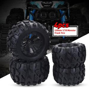 Image 4 - 2020 New 4PCS 125mm 1/10 Monster Truck Tire & Wheel Hex 12mm For Traxxas Tamiya Kyosho HPI HSP Savage XS TM Flux LRP