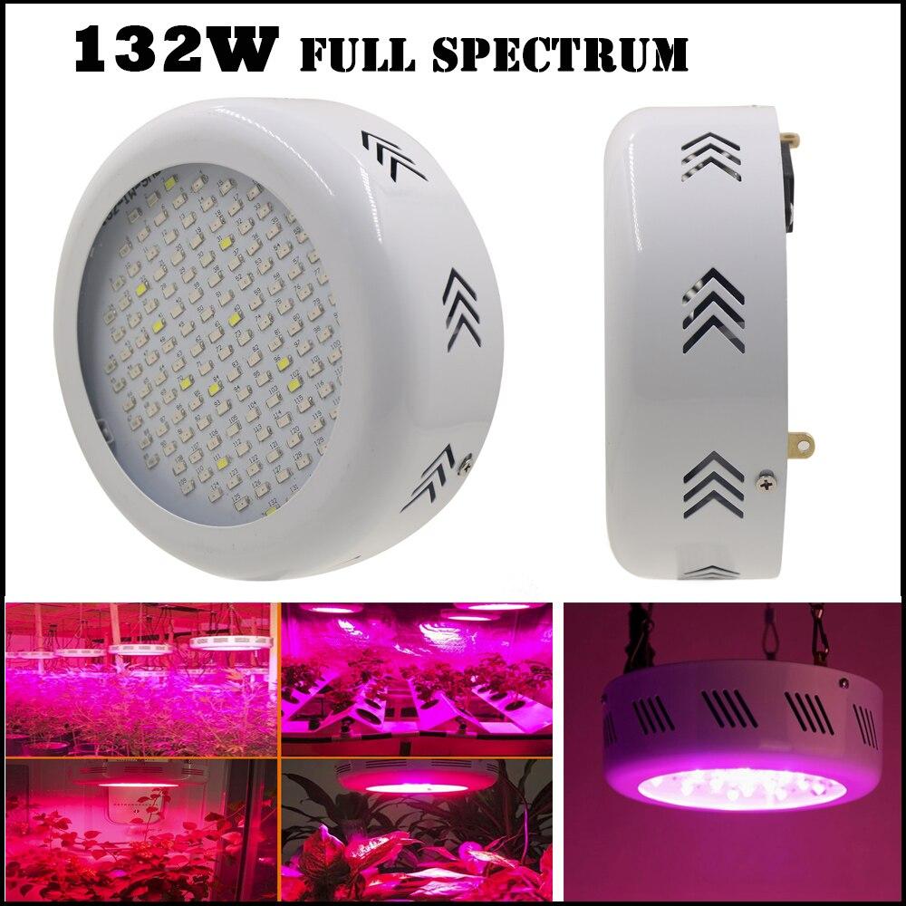 ФОТО 132W mini UFO Full Spectrum LED Grow Lights 132leds SMD LED Lamps for Plants Hydroponics Greenhouse AC85-265V, Fast Shipping
