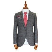 Сшитый на заказ пиджак на окна, однобортный костюм, свадебные костюмы для мужчин, мужской блейзер на заказ с отворотом