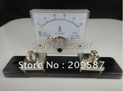 Аналоговая AMP Панель измеритель переменного тока 0-50A+ шунт