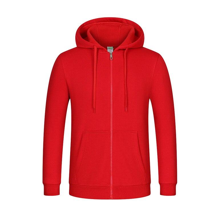 Image 4 - Толстовка с капюшоном и логотипом на молнии для мужчин и женщин, Повседневная хлопковая куртка унисексТолстовки и свитшоты   -