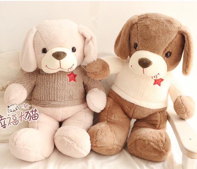 1pc 50cm 70cm Year of the dog lovely tongue sweater teddy dog Christmas gift plush doll cushion pillow novelty stuffed toy
