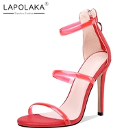 f6b673b5c9 Lapolaka Large Size 34 46 Elegant High Heels Women Shoes Summer Party  Gladiator Sandals Shoes Woman