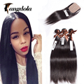Brazilian Silk Base Closure With Bundles Mink Brazilian Straight Hair Silk Closure With Bundles Rosa Hair Products With Closure