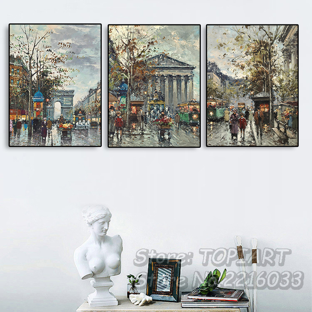 Home Decor 3 Piece Wall Art Oil Painting Canvas Printed Abstract ...