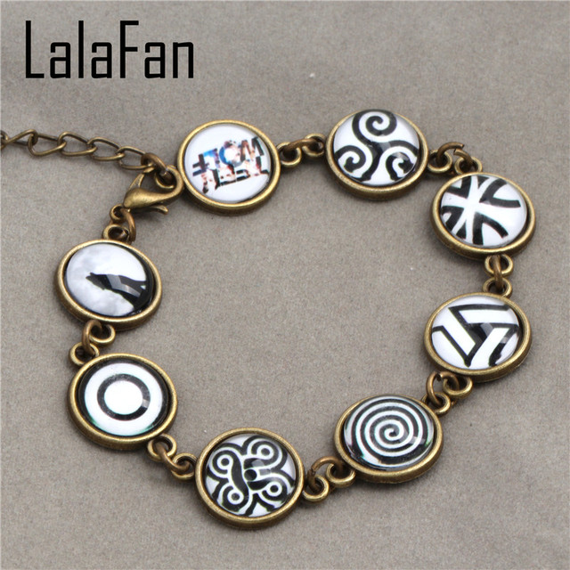Hand Make Teen Wolf Symbols Beads Bracelets Sl916 In Bangles From