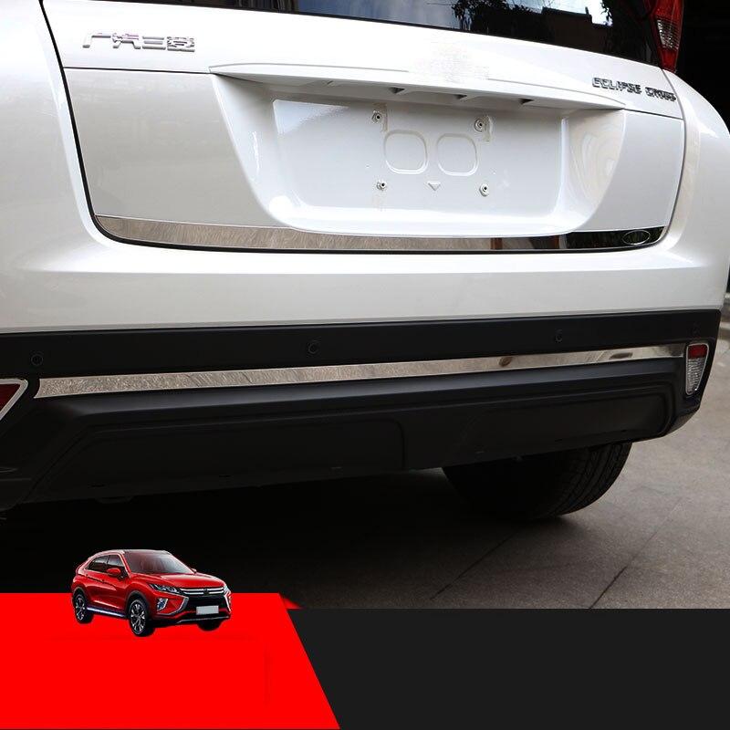 Outer Rear Bumper Protector Sill Trim 1pcs For Mitsubishi Eclipse Cross 2018