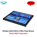 Partaker Z16 Computer TouchScreen All In One With Taiwan High Temperature 5 Wire Touch Screen I5 3317U