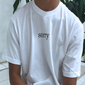 Femme 2016 New Sorry Graphic Funny Cool Tshirts Women Tops Cotton Tee Men Unsiex Couple Clothing Plus Size Summer Oversized