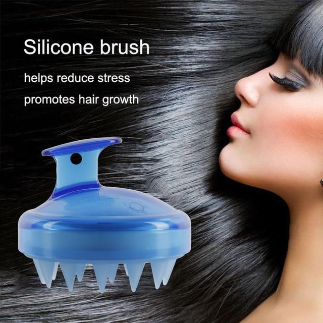 1 pz Spa Dimagrante Massaggio Con Spazzola Testa di Silicone Corpo Shampoo Massa