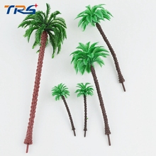 Teraysun 100PCS 1:50-1000 scale miniature Architecture Plastic Palm Tree Model Miniature HO N OO for sea scenery