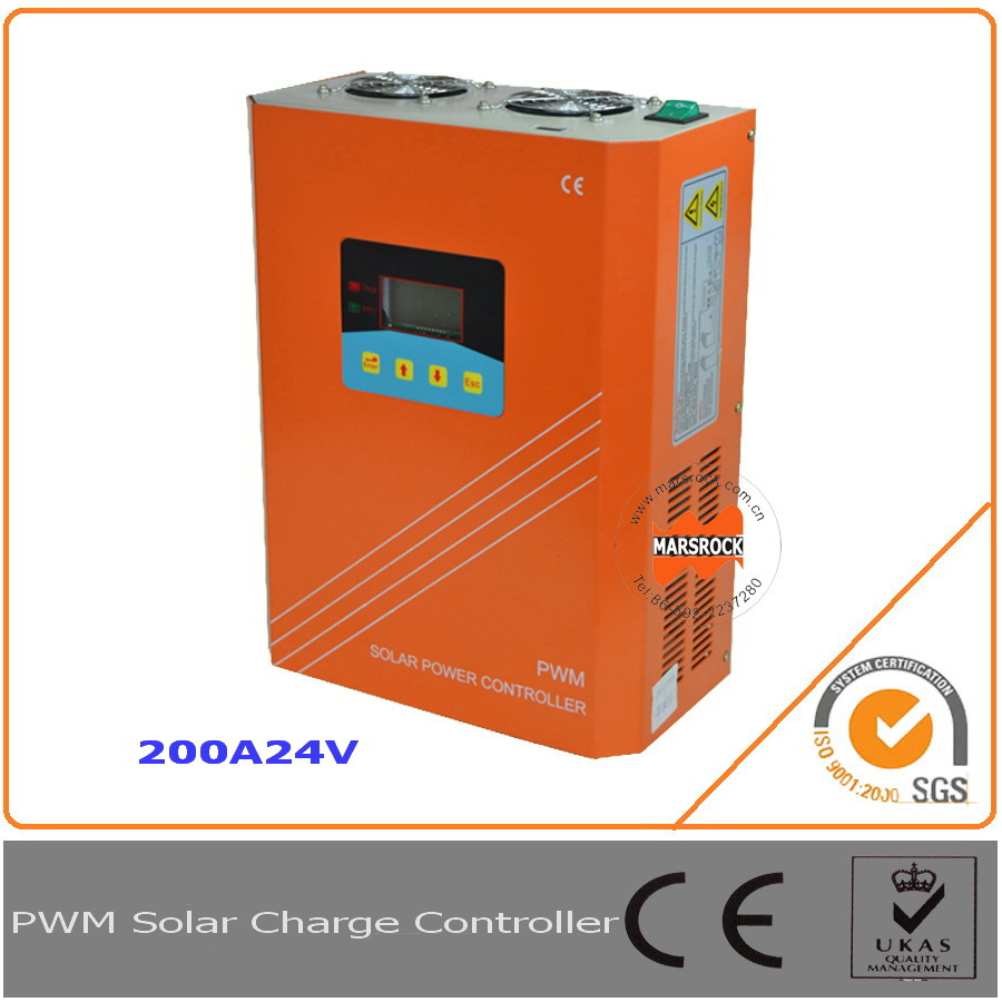 200A 24V solar charge controller with RS232 for communication function and LCD display for off grid solar power system!! 2 years warranty backlight new function lcd display solar charge controller solar power controller