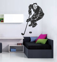 S012 2016 Popular Sport Removable Hockey Stick Puck Rink Team Game Wall Decal Sticker Home Decor