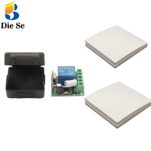 Wall Panel Switch 433 MHz rf Remote Control DC 12V 10A 1CH Relay Receiver 3 button For Bedroom Ceiling Light Lamp Bulb