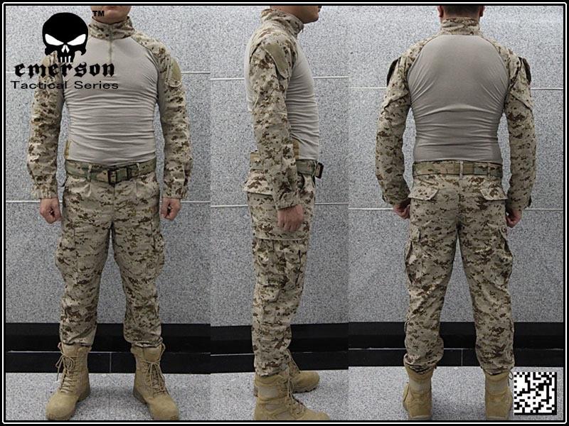 Airsoft combat uniform Emerson BDU uniform USMC Operational Gear FROG SUIT Desert MARPAT EM2717wholesale price