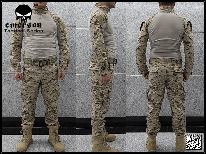 Airsoft combat uniform Emerson BDU uniform USMC Operational Gear FROG SUIT Desert MARPAT EM2717wholesale price  Велюр