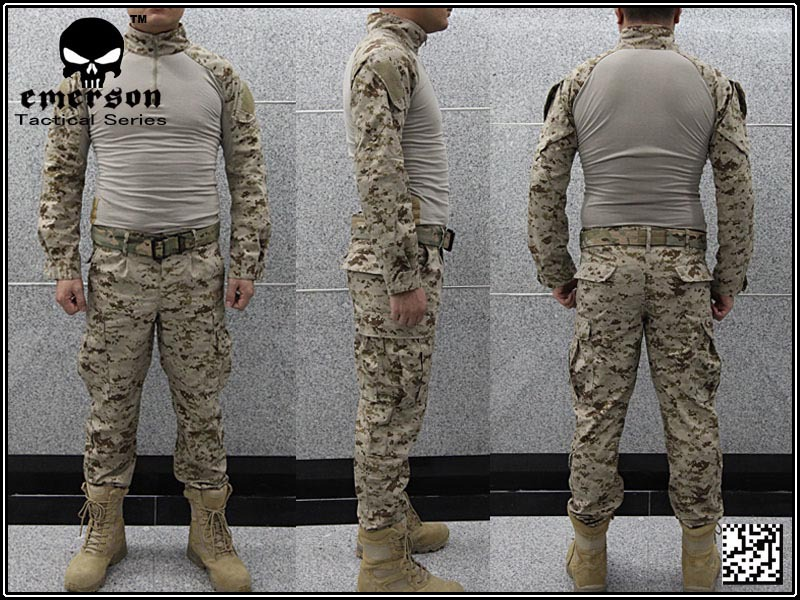US $55 8 |Airsoft combat uniform Emerson BDU uniform USMC Operational Gear  FROG SUIT Desert MARPAT EM2717wholesale price-in Hunting Ghillie Suits from