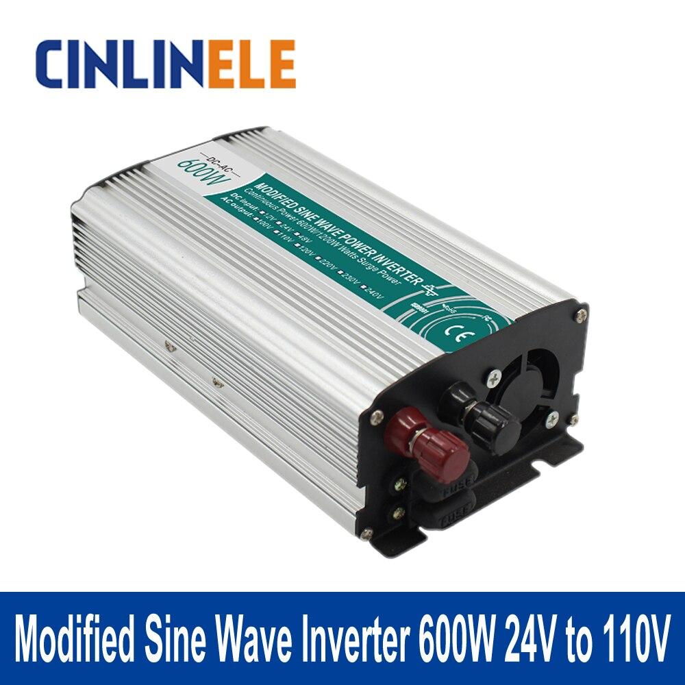 ФОТО Shine Series Modified Sine Wave Inverter 600W CLM600A-241 DC 24V to AC 110V 600W Surge Power 1200W Power Inverter 24V 110V