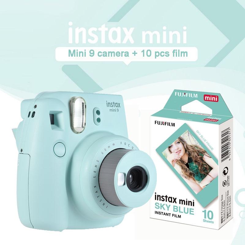 Fujifilm Instax Mini 9 Ice Blue Instant Camera Photo Printin