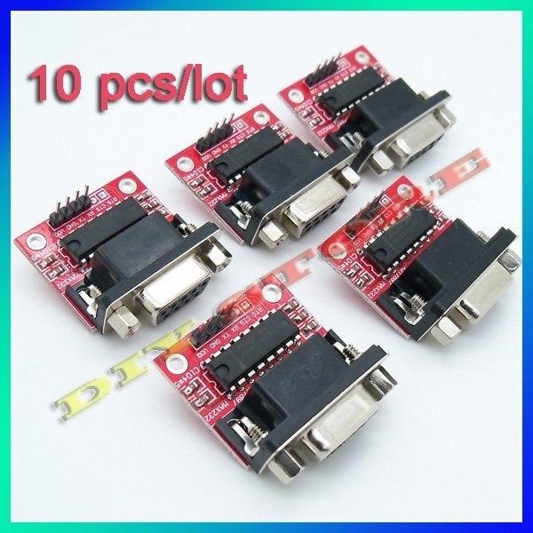 10 pcs/lot MAX232 RS232 Serial COM Port to TTL 5V converter/Adapter Module Fr PIC ATMEL MCU-10000229