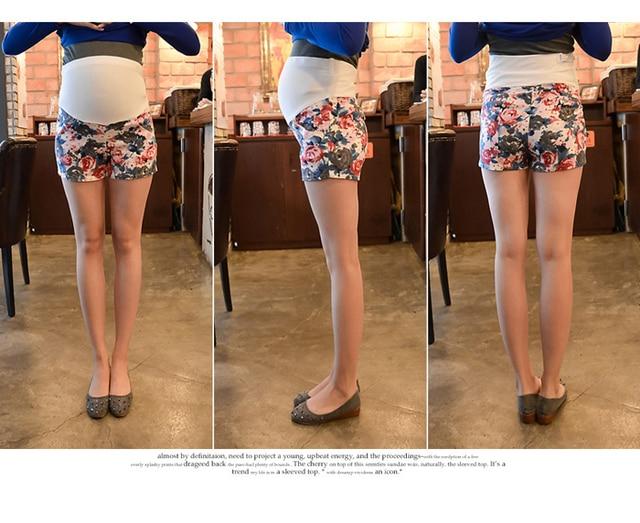 Лето беременных брюки короткая брюки для для беременных женщины