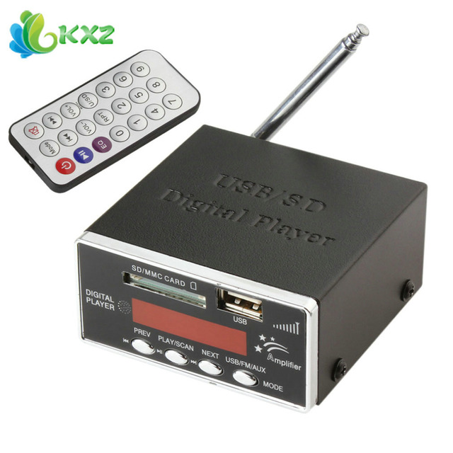 Best Price 12V Digital Auto Car Power Amplifier & Audio MP3 Player with FM Radio 4-Electronic Keypad Support USB SD MMC Card + Remote
