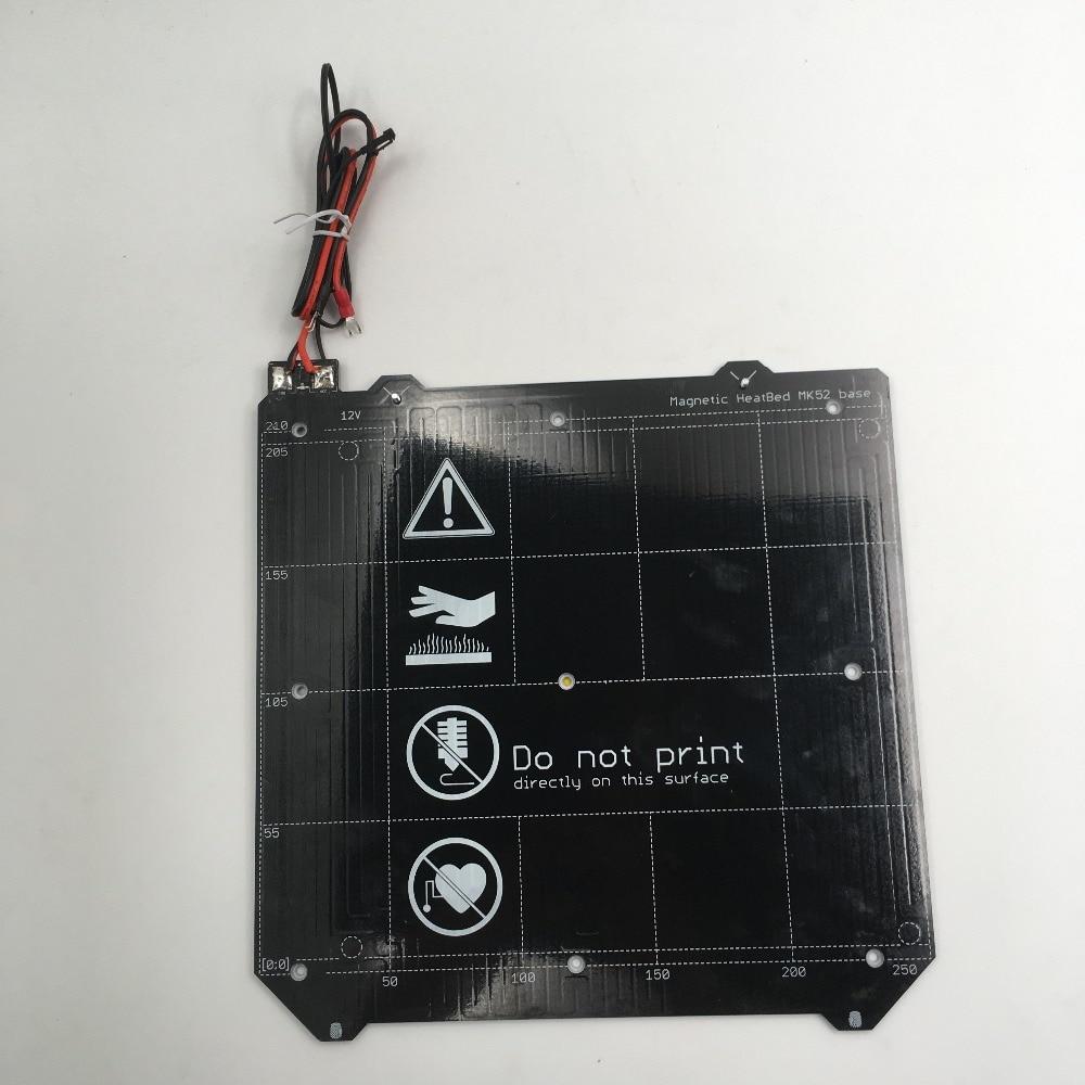 cloned Prusa i3 MK3 3d printer Magnetic MK52 Heatbed 24V assembly(Presell)