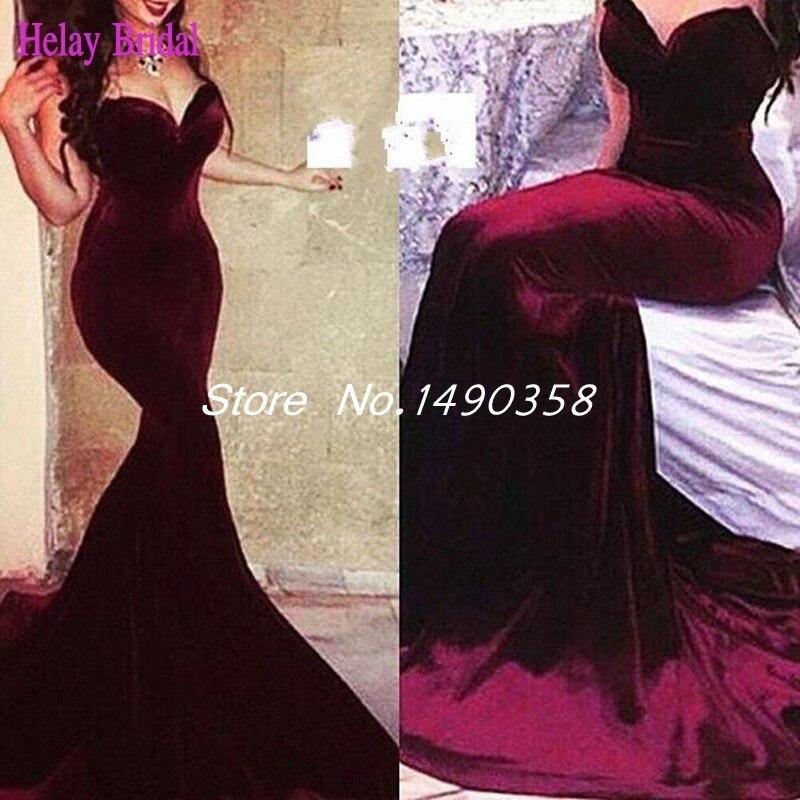 Popular Red Velvet Evening Dress-Buy Cheap Red Velvet Evening ...