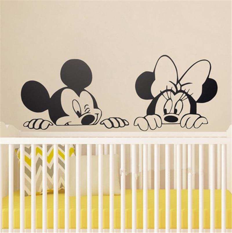 US $8.99 |Cartoon Mickey Minnie Maus Niedlichen Tier Vinyl wandaufkleber  Wandbild Tapete Kindergarten Wandtattoo Home Decor-in Wandaufkleber aus  Heim ...