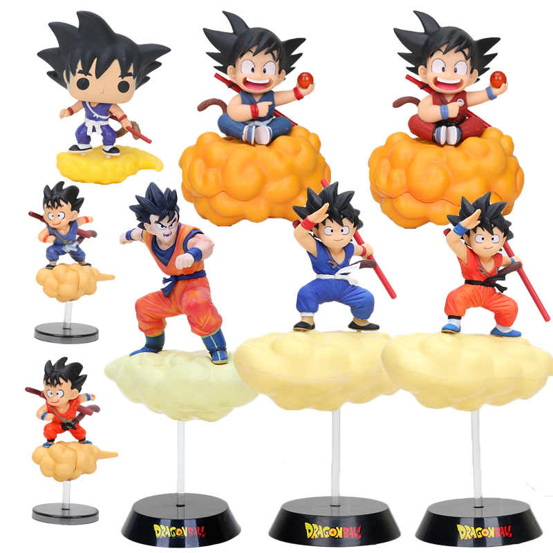 Anime Dragon Ball Z Figura Cambalhota Nuvem Super Saiya Goku son goku infância PVC Action Figure Toy Modelo