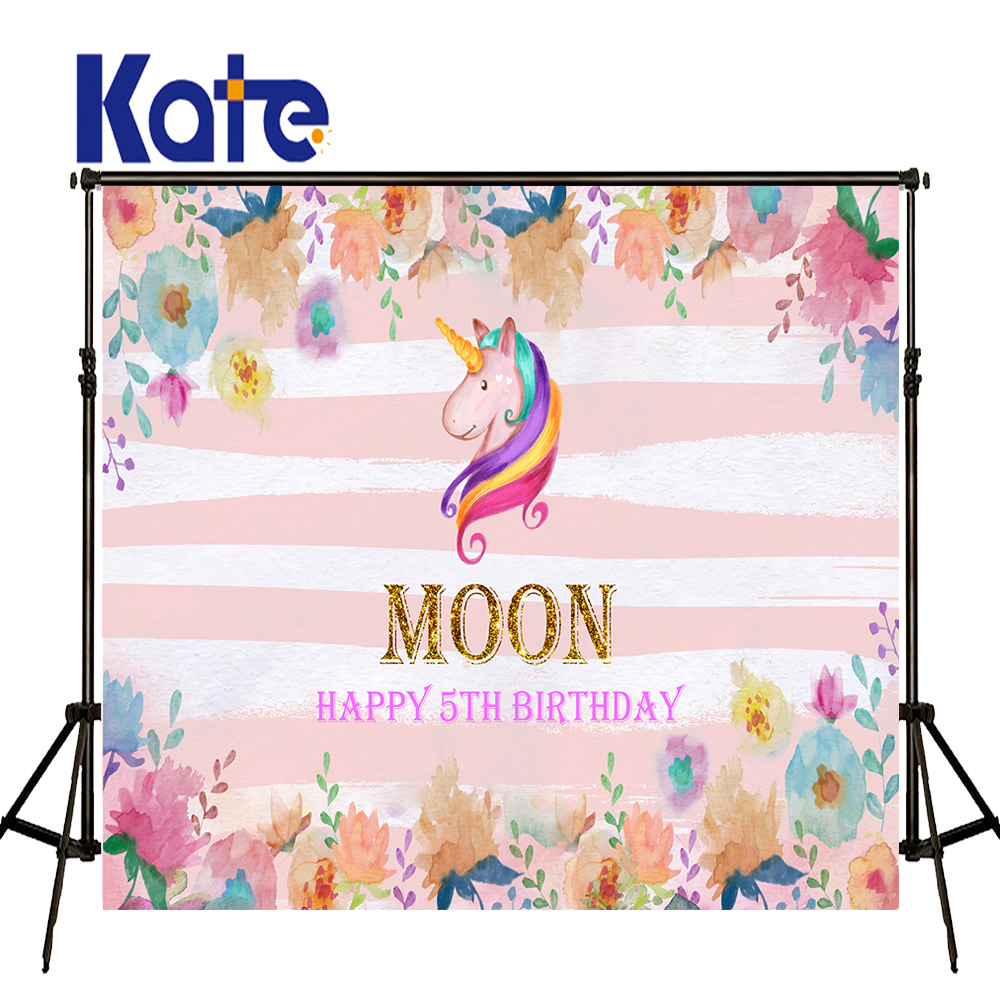 KATE Photography Backdrops 10X10Ft Custom Photo Backdrops Unicorn Backdrop Newborn Background Pink Children Birthday Background kate dry land photography backdrops land photography background retro children custom backdrop props for newborn photo shoot