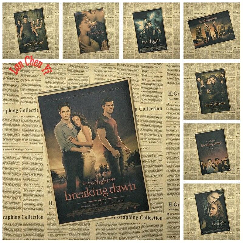 Classic TV play Twilight Nostalgic Matte Kraft Paper Poster Office Gift Room Dining Home Decor wall sticker Design