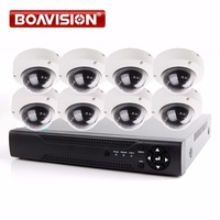 BOAVISION 1080P Security Camera System 8CH AHD DVR System Kit With 8PCS Outdoor Dome IR 10m