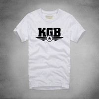 1 KGB Logo T Shirt The Committee of State Security Tshirt Russia Soviet USSR Minions Cool Summer Tee Shirt Mens Cotton