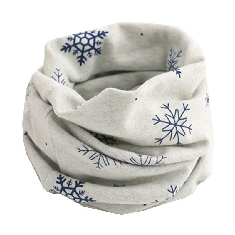 Осенне-зимний детский хлопковый шарф для девочек и мальчиков теплые шарфы Детский круглый кольцевой ошейник Детский шарф детский волшебный шейный платок - Цвет: gray snow