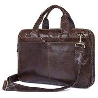Vintage Genuine Leather Men S Briefcase Laptop Business Case Cow Leather Messenger Bags Men Shoulder Bag