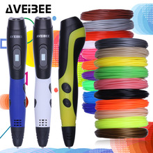 3D Pen 3D Printing Drawing Pen For Kids & Adults Arts Crafts DIY Perfect Gift 3 d Pens With LCD Display PLA Filament Refills 3d pen 3 d printing drawing pens with lcd screen for doodle model making arts and crafts with 100 meter 1 75mm pla filament
