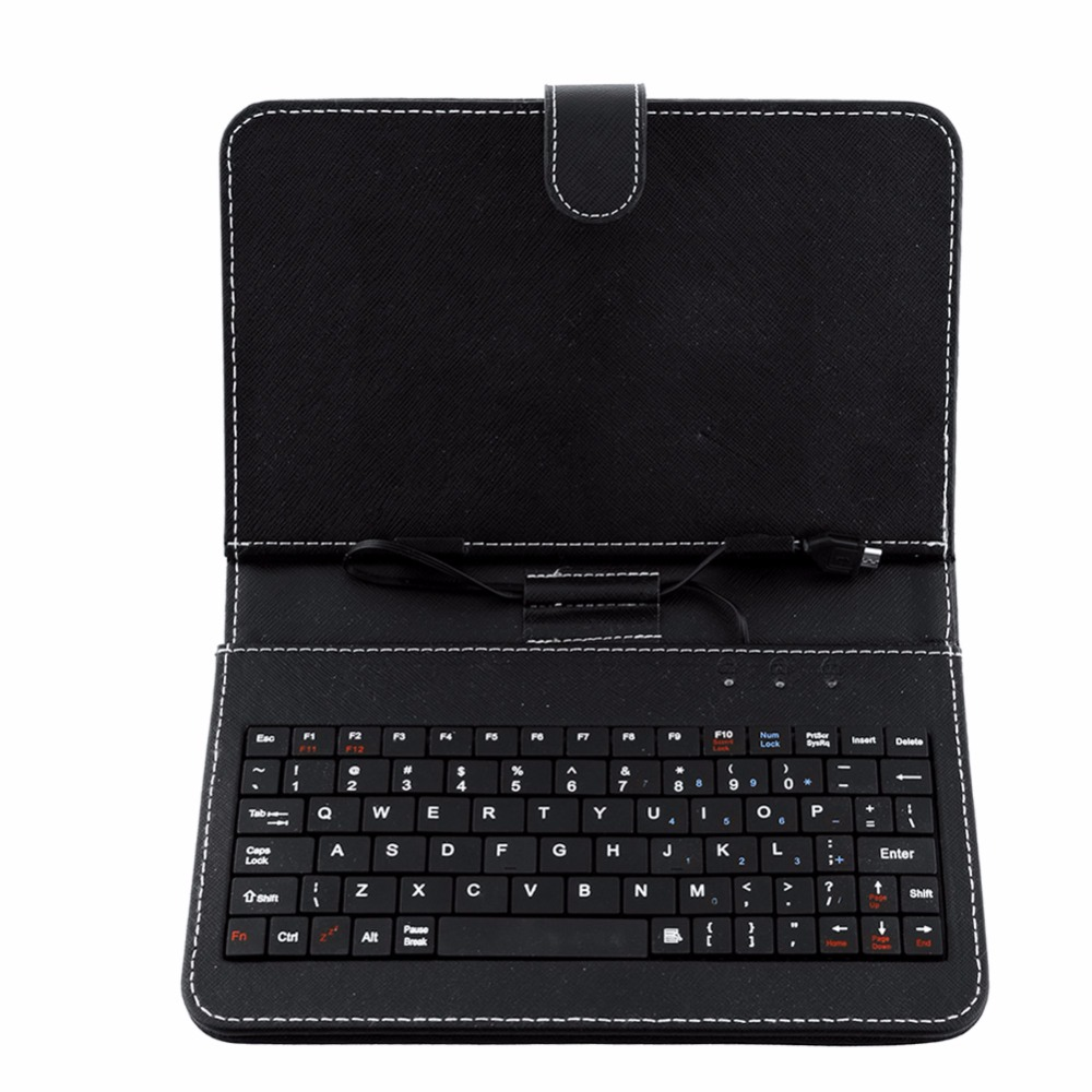 7 inch Universal Micro USB Keyboard For Tablet PC English Russian Spanish Arabic keyboard case can be choosed for 7 7 85 8 9 9 7 10 1 inch tablet russian polish crezh ukrainian spanish micro usb keyboard pu leather cover case free stylus